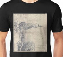 0077 Railroad Maps From the valley of Green River to the Great Salt Unisex T-Shirt