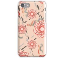 Abstract Geometry Flowers iPhone Case/Skin