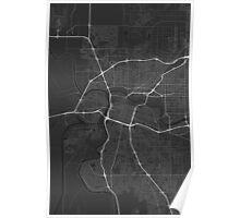 Sacramento, USA Map. (White on black) Poster