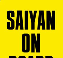 Saiyan on Board Sticker
