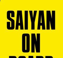 Saiyan on Board Sticker