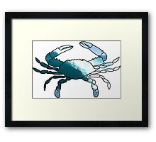 waves crab Framed Print