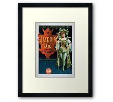 Performing Arts Posters The American Extravaganza Co in Aladdin Jr a tale of a wonderful lamp 0002 Framed Print