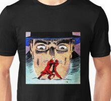 Big Face Hat Man Fighty Scene Unisex T-Shirt