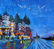 Fairmont Le Chateau Frontenac Quebec Canada By Night Sticker