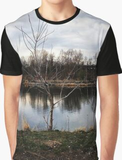 Tree at a lake Graphic T-Shirt