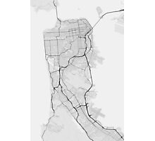 San Francisco, USA Map. (Black on white) Photographic Print