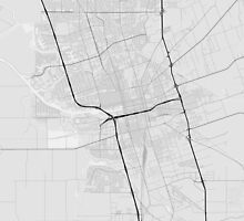 Stockton, USA Map. (Black on white) by Graphical-Maps