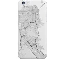 San Francisco, USA Map. (Black on white) iPhone Case/Skin