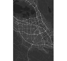 San Jose, USA Map. (White on black) Photographic Print