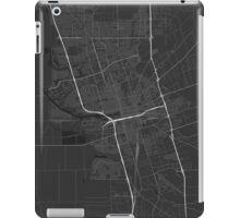 Stockton, USA Map. (White on black) iPad Case/Skin