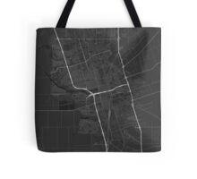 Stockton, USA Map. (White on black) Tote Bag