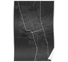 Stockton, USA Map. (White on black) Poster