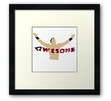 AWESOME | The Miz Framed Print