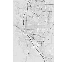 Colorado Springs, USA Map. (Black on white) Photographic Print