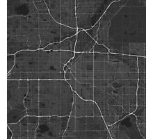 Denver, USA Map. (White on black) Photographic Print