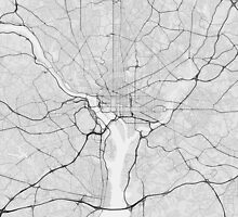 Washington, USA Map. (Black on white) by Graphical-Maps