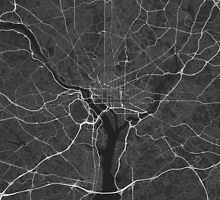 Washington, USA Map. (White on black) by Graphical-Maps