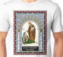 ST VINCENT DE PAUL under STAINED GLASS Unisex T-Shirt