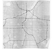 Denver, USA Map. (Black on white) Poster