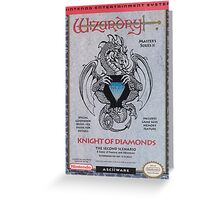 Wizardry: Knight of Diamonds Greeting Card