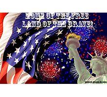 Patriotic American Flag Photographic Print