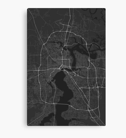 Jacksonville, USA Map. (White on black) Canvas Print