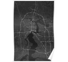 Jacksonville, USA Map. (White on black) Poster