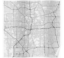 Orlando, USA Map. (Black on white) Poster