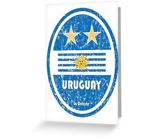 World Cup Football 4/8 - Uruguay (Distressed) Greeting Card