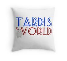 Tardis World team Throw Pillow
