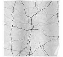 Atlanta, USA Map. (Black on white) Poster