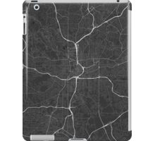 Atlanta, USA Map. (White on black) iPad Case/Skin