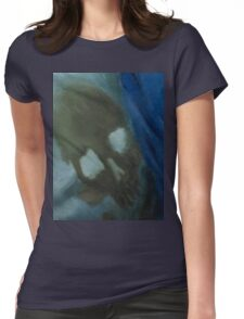 skull painting Womens Fitted T-Shirt