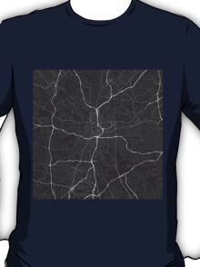 Atlanta, USA Map. (White on black) T-Shirt
