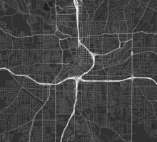 Atlanta, USA Map. (White on black) Sticker