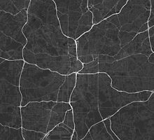 Atlanta, USA Map. (White on black) by Graphical-Maps