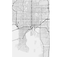 Tampa, USA Map. (Black on white) Photographic Print
