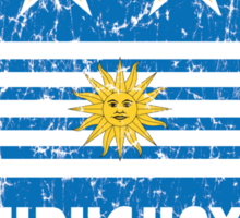 World Cup Football 4/8 - Uruguay (Distressed) Sticker