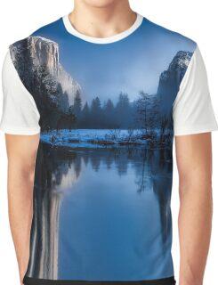 Majestic Yellowstone Mountains Graphic T-Shirt