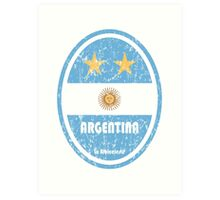 World Cup Football 5/8 - Argentina (Distressed) Art Print