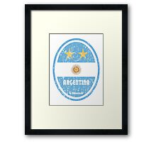 World Cup Football 5/8 - Argentina (Distressed) Framed Print
