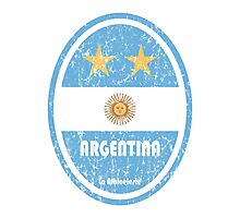 World Cup Football 5/8 - Argentina (Distressed) Photographic Print