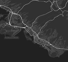 Honolulu, USA Map. (White on black) by Graphical-Maps