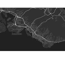 Honolulu, USA Map. (White on black) Photographic Print