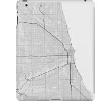 Chicago, USA Map. (Black on white) iPad Case/Skin