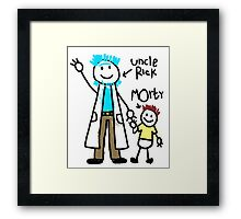 For uncle Rick with love! Framed Print
