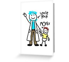 For uncle Rick with love! Greeting Card