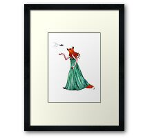 A Fox and a Fish Framed Print