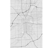 Fort Wayne, USA Map. (Black on white) Photographic Print